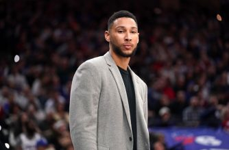 PHILADELPHIA, PA - FEBRUARY 20: Ben Simmons #25 of the Philadelphia 76ers looks on during a game against the Brooklyn Nets on February 20, 2020 at the Wells Fargo Center in Philadelphia, Pennsylvania NOTE TO USER: User expressly acknowledges and agrees that, by downloading and/or using this Photograph, user is consenting to the terms and conditions of the Getty Images License Agreement. Mandatory Copyright Notice: Copyright 2020 NBAE   Jesse D. Garrabrant/NBAE via Getty Images/AFP