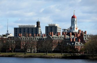 CAMBRIDGE, MASSACHUSETTS - APRIL 22: A general view of Harvard University campus is seen on April 22, 2020 in Cambridge, Massachusetts. Harvard has fallen under criticism after saying it would keep the $8.6 million in stimulus funding the university received from the CARES Act Higher Education Emergency Relief Fund in response to the COVID-19 (coronavirus) pandemic.   Maddie Meyer/Getty Images/AFP