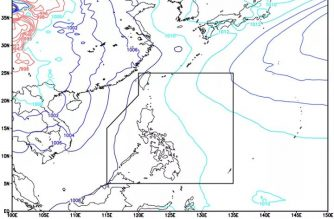 ITCZ affects S. Mindanao