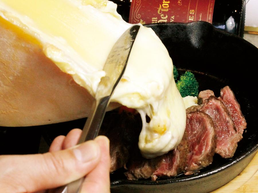 かるね_牛フィレステーキラクレットチーズがけ