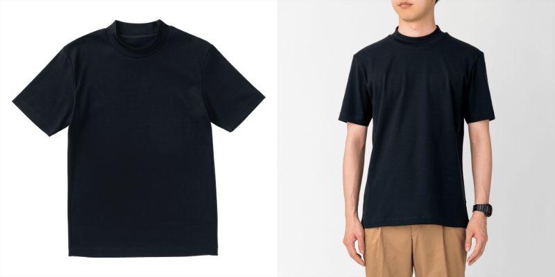 20200627_Tシャツコーディネート_Tシャツ モックネック