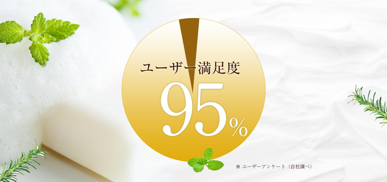 モニター満足度95%