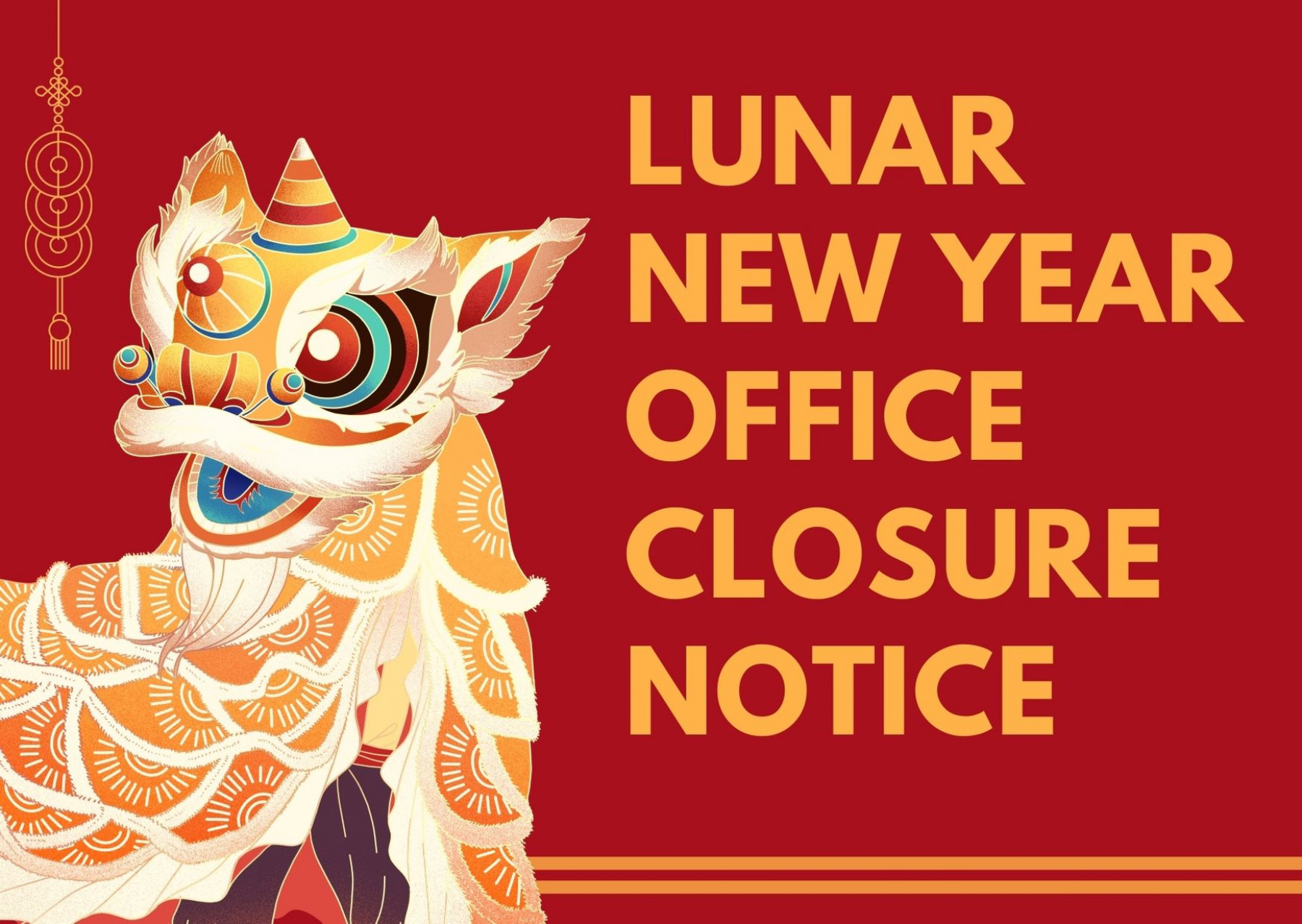 Play Concept - Notice of Office Closure for Lunar New Year - 1