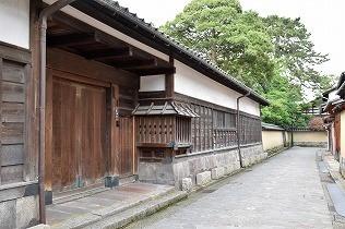 加賀藩中級武士が暮らしていたと言う「武家屋敷跡界隈」