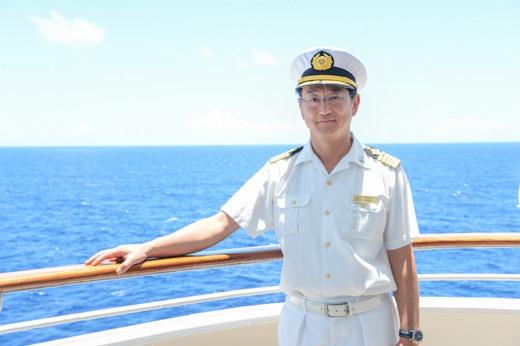 クルーズの最後に小久江船長にお話を聞くことが出来ました。