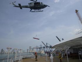 「飛鳥Ⅱ」捜索救助合同訓練