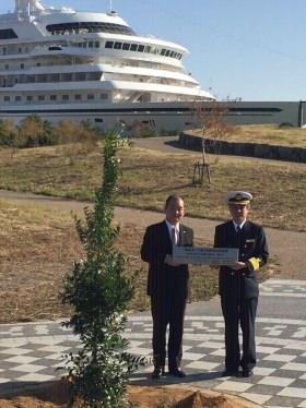 新宮港入港10周年記念植樹