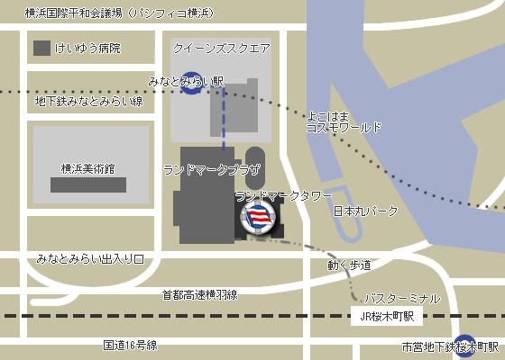 郵船クルーズ株式会社アクセスマップ