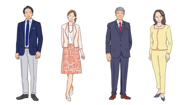 (男性)スーツ、ジャケットなどの上着。ネクタイ(アスコットタイ、ループタイ等を含む)については着用をおすすめします。 (女性)ブラウス、ツーピースなど