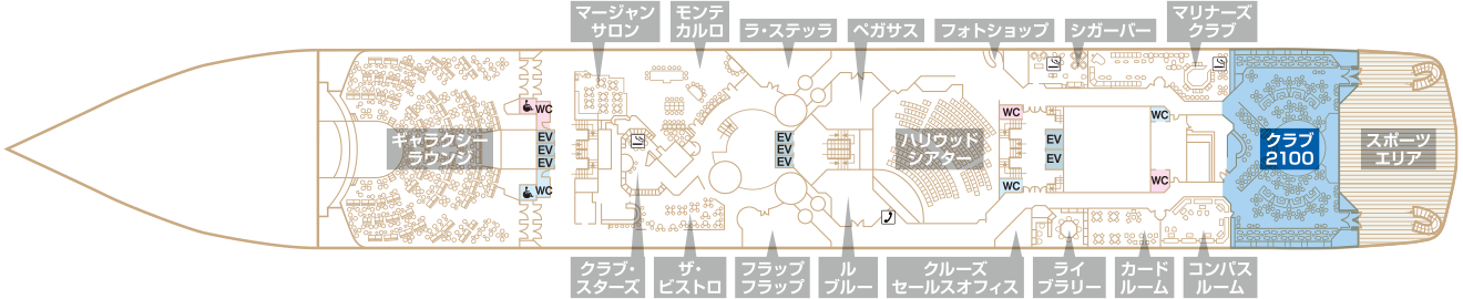 Deck6 プラザデッキ クラブ2100