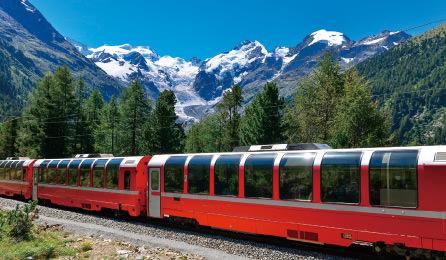 人気の氷河特急乗車