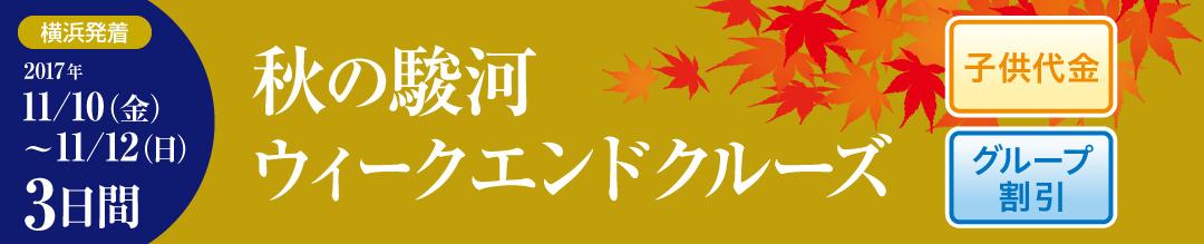 秋の駿河ウイークエンドクルーズ 3日間 横浜発着 2017年 11月10日(金)~11月12日(日)