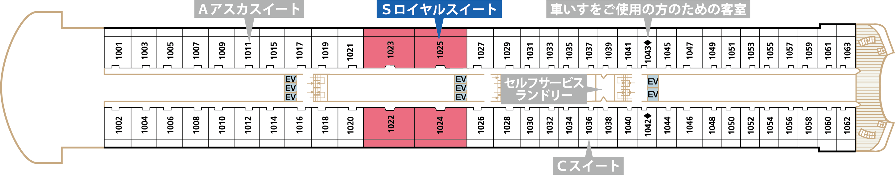 Deck10 アスカデッキ Sロイヤルスイート