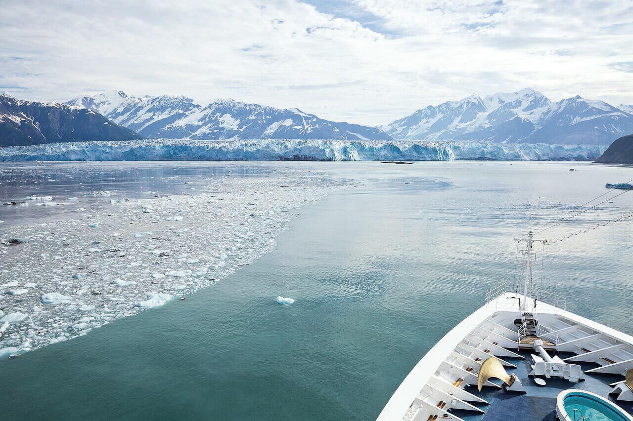 見逃せないビューポイント<br>■ハバード氷河