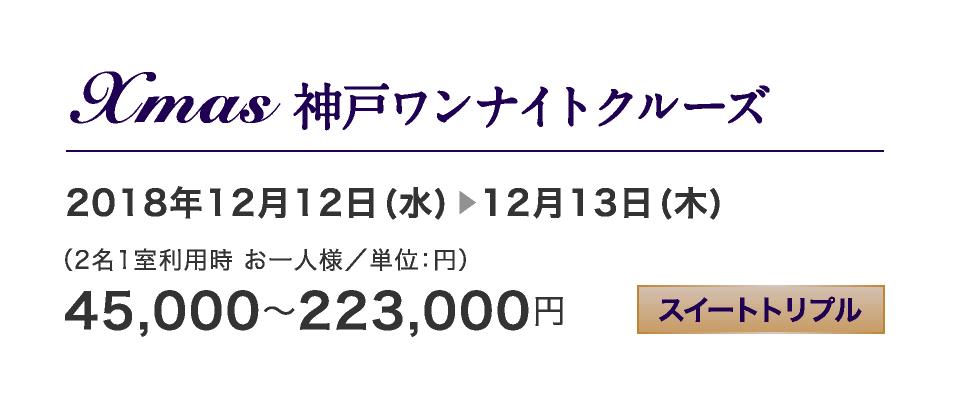Xmas 神戸ワンナイトクルーズ 12/12-12/13