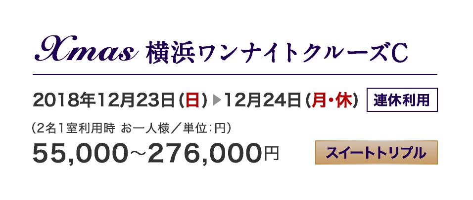 Xmas 横浜ワンナイトクルーズC 12/23-12/24