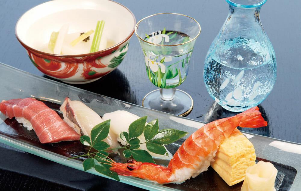 洋上で極上の寿司を味わう贅沢