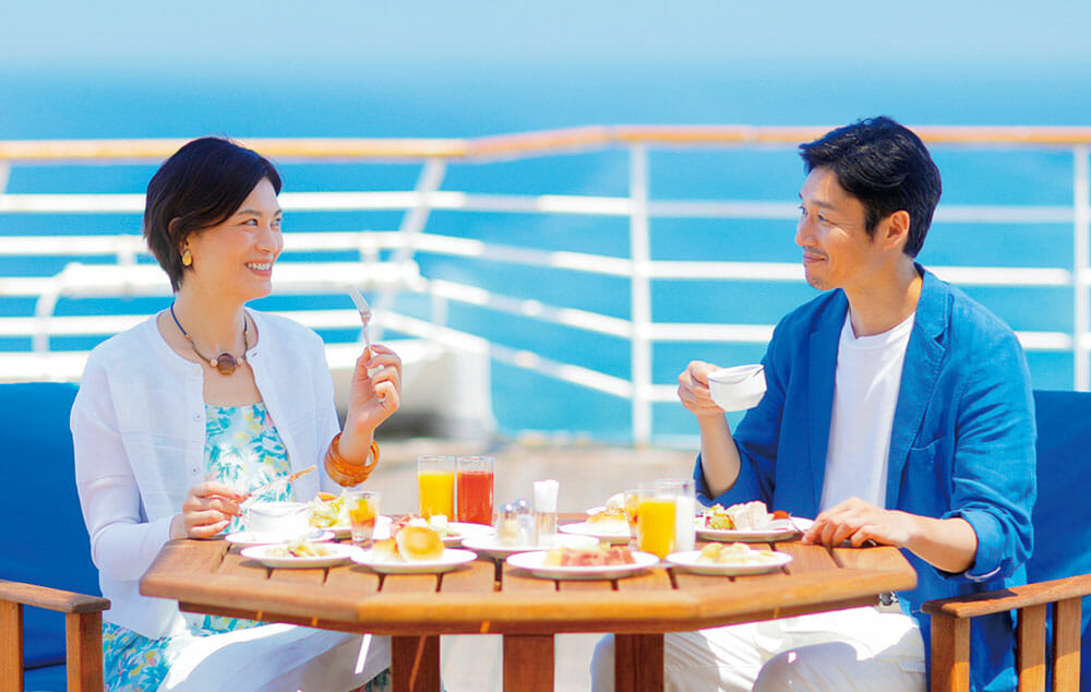観光も、船内も満喫できる