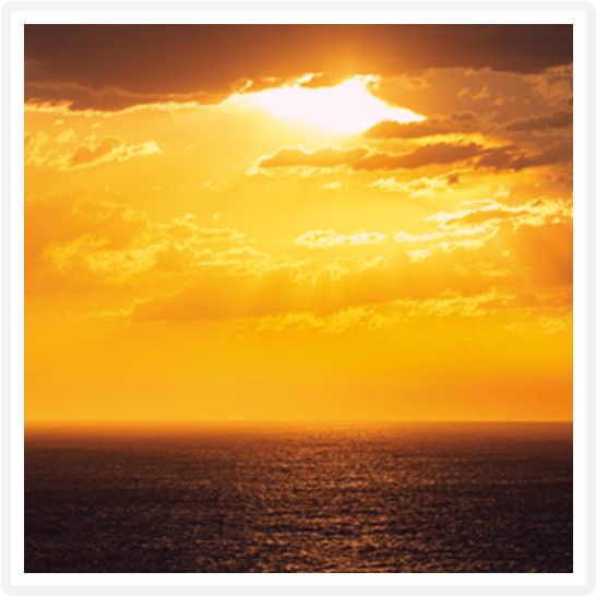 2021年 オセアニアグランドクルーズ On Board 船上の夕陽