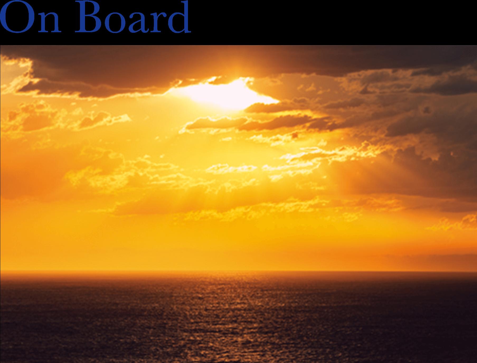 2021年 オセアニアグランドクルーズ On Board 船上の夕陽 詳細情報