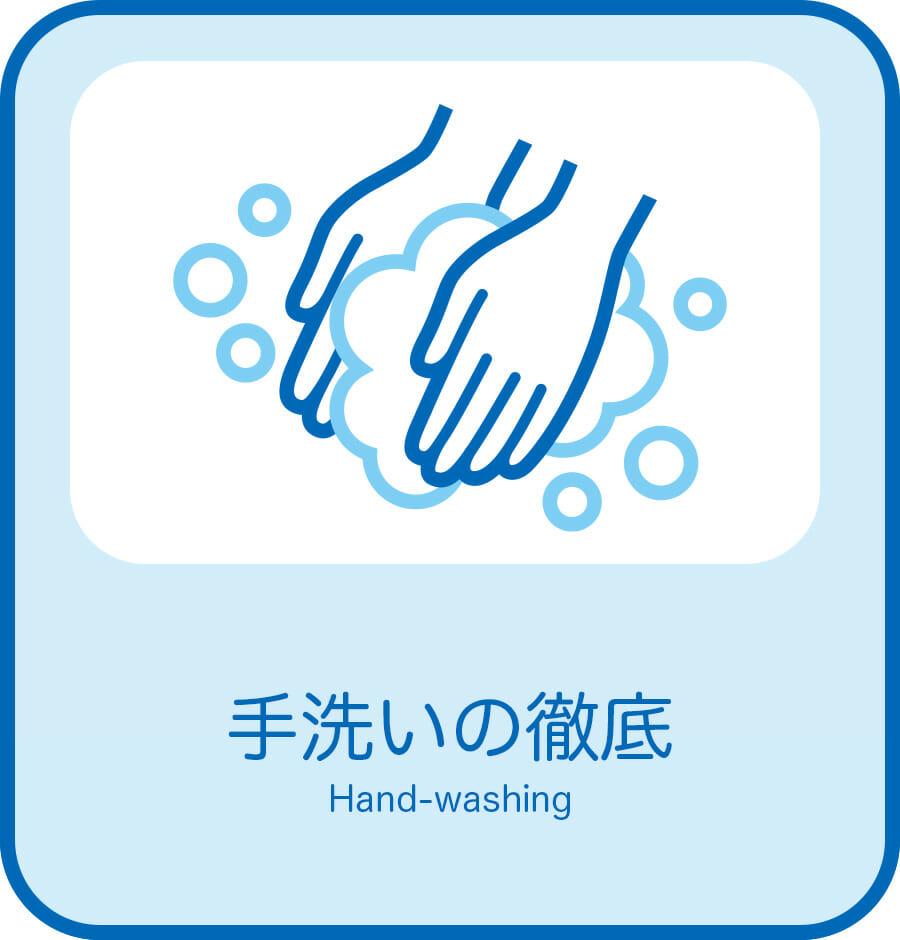 手洗の徹底