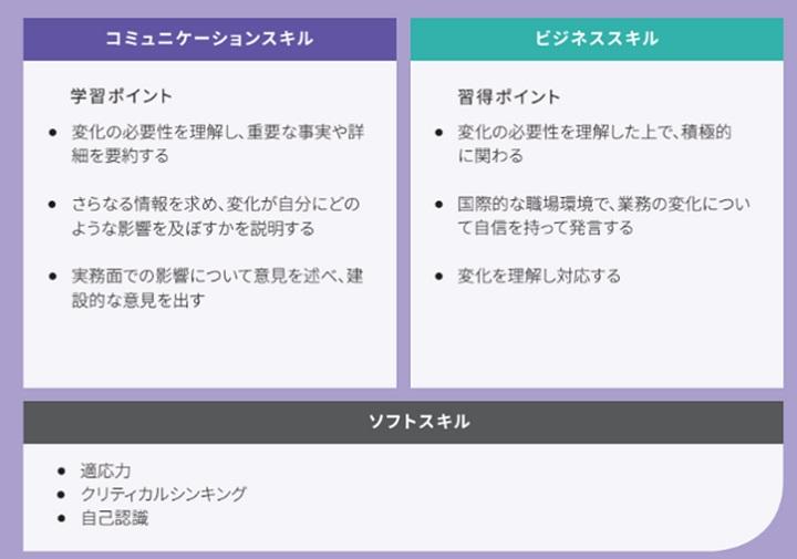図:Excedoのプログラムを構成するスキルフレームワーク