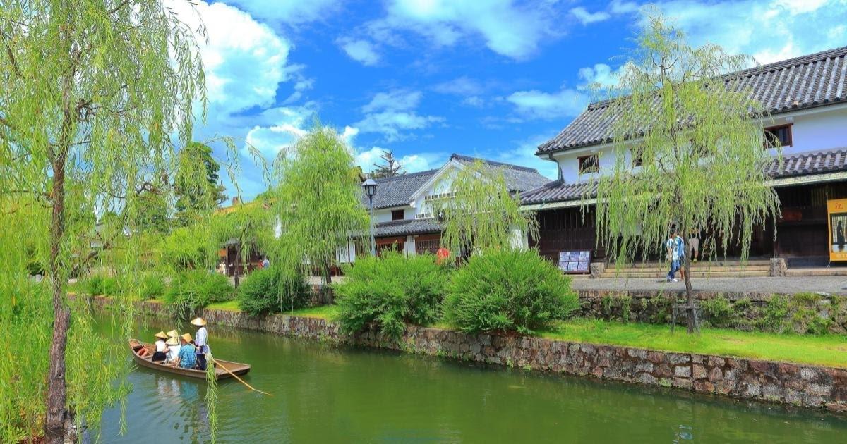 岡山県倉敷美観地区の風景