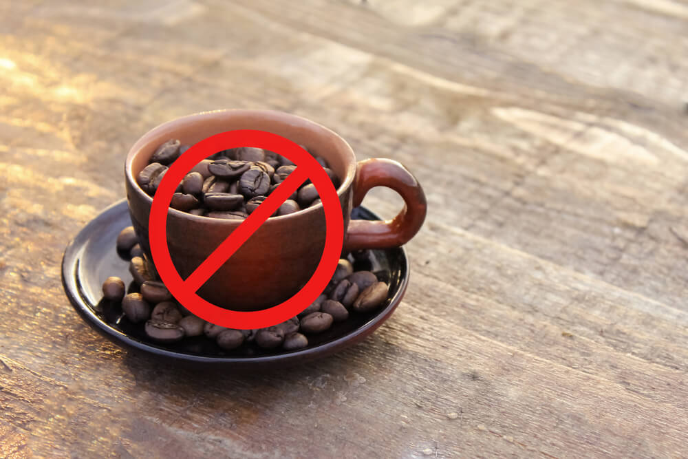 カップに入ったコーヒー豆