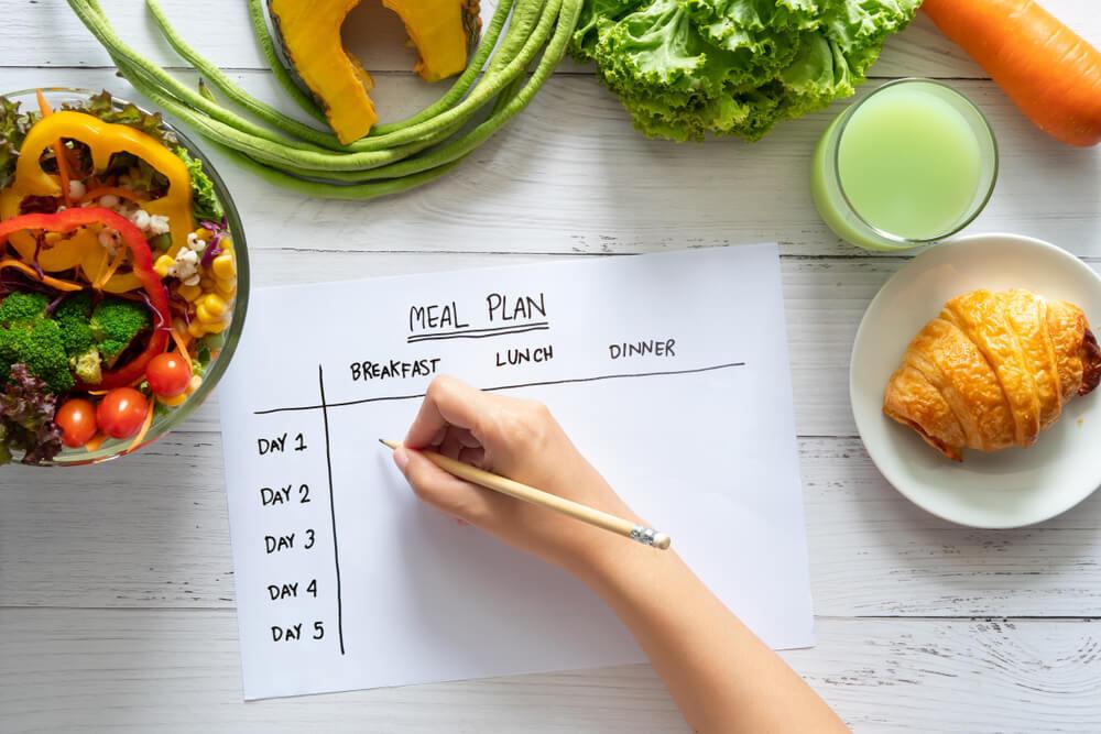 食事のプランを書く人