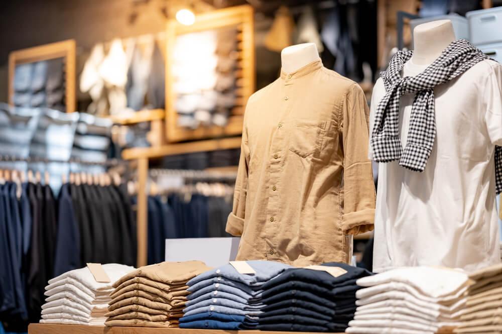 男性服の売場