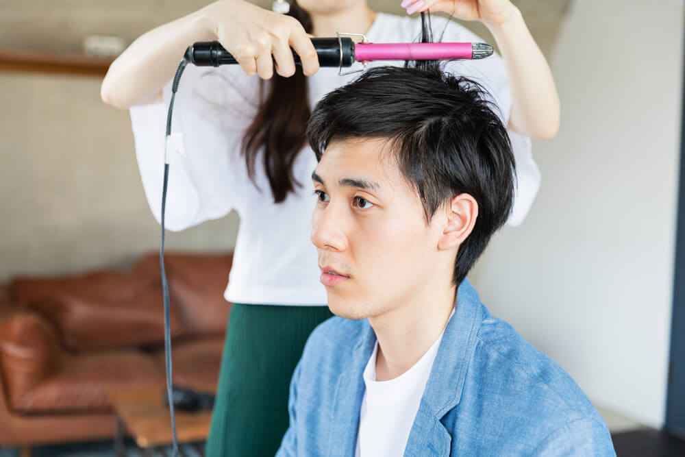 刈り上げヘアを依頼した男性