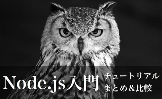 Node.js入門に最適なチュートリアルサイトまとめ比較のサムネイル画像