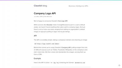 Company Logo API