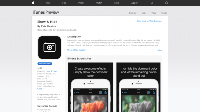 Show Hide on the App Store
