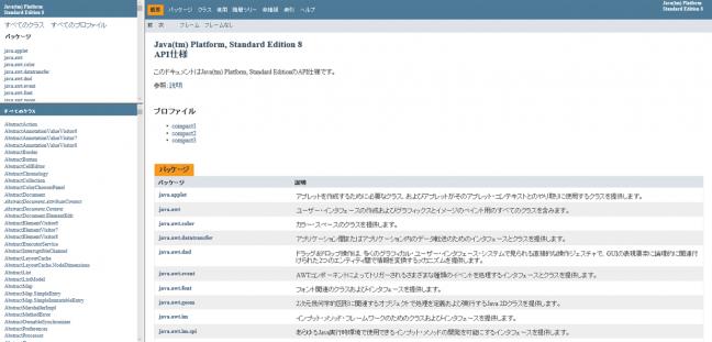 1.Java(tm) Platform, Standard Edition 8 API仕様