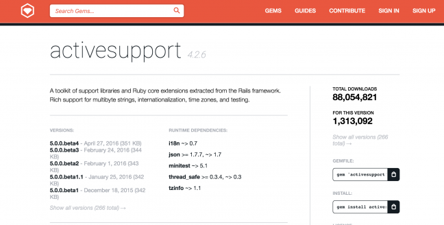 Rubyのgemライブラリ1:Active Support