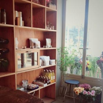 コーヒーとお花と夕焼け時間