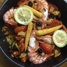 I cooked paella