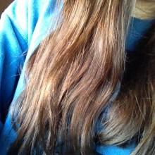 My hair~( ̄▽ ̄)