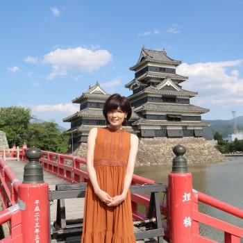 青空の松本城⭐️