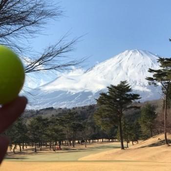 雪と富士山