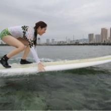 サーフィンで二の腕背中周りをシェイプ♪楽しみながらダイエット♪