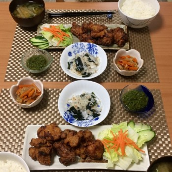 昨日のお夕食〜( ˊ̱˂˃ˋ̱ )🎶
