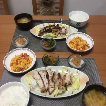 昨日のお夕食〜( ´ ▽ ` )