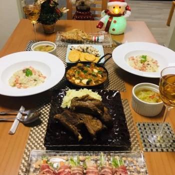昨日のお夕食〜🎄