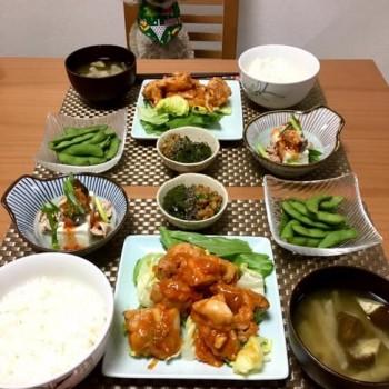 昨日のお夕食〜(^^)