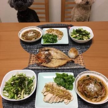 昨日のお夕食〜(*'ω'*)