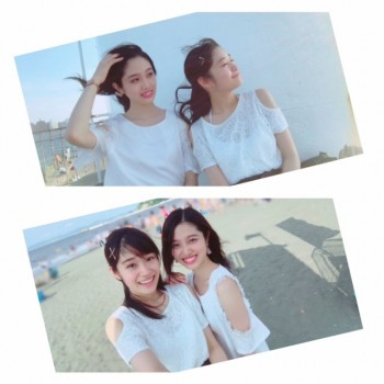 夏休みにもえと江ノ島に行った時の♪