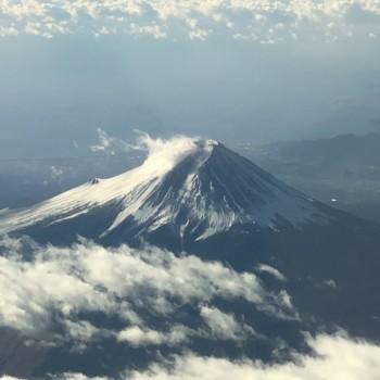 機内からの富士山。