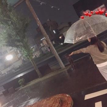 台風上陸。